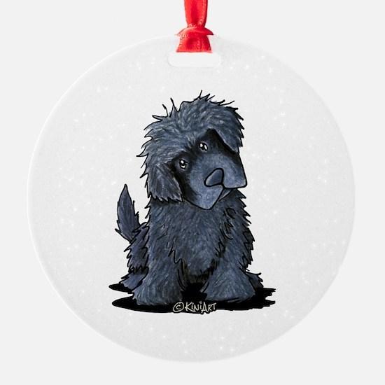 Black Newfie Ornament