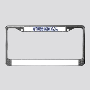 FUSSELL University License Plate Frame