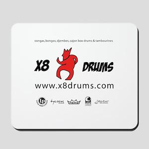 X8 Drums Mousepad