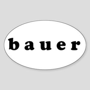 bauer Oval Sticker
