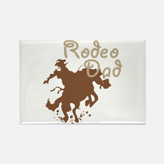 Bucking Bronco Rodeo Dad Rectangle Magnet (100 pac