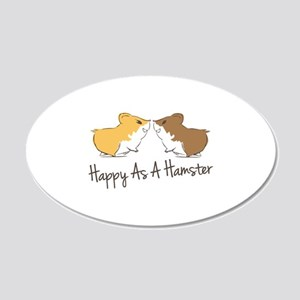 Happy Hamster Wall Decal