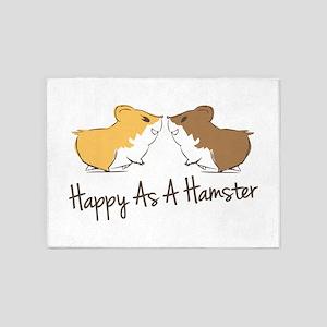 Happy Hamster 5'x7'Area Rug