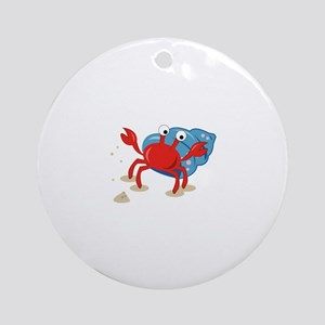 Dancing Crab Ornament (Round)