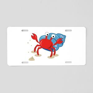 Dancing Crab Aluminum License Plate
