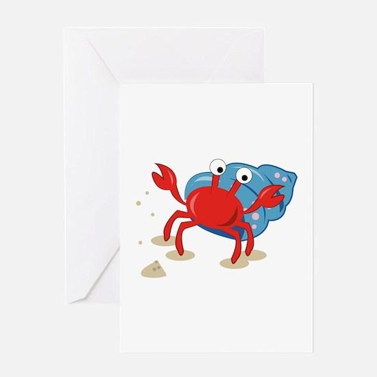 Dancing Crab Greeting Cards
