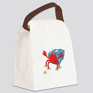 Dancing Crab Canvas Lunch Bag