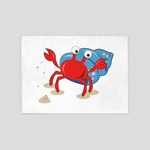 Dancing Crab 5'x7'Area Rug