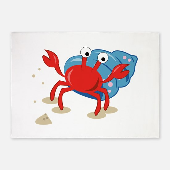 Dancing Crab 5 X7 Area Rug