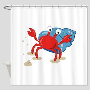 Dancing Crab Shower Curtain