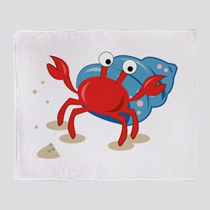 Dancing Crab Throw Blanket