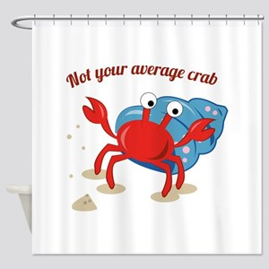 Average Crab Shower Curtain