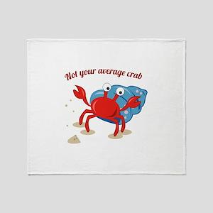 Average Crab Throw Blanket