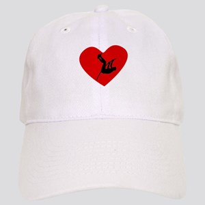 Pole Vaulter Heart Baseball Cap