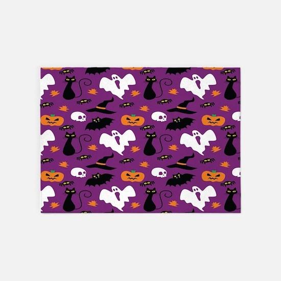 Halloween Pattern 5'x7'Area Rug