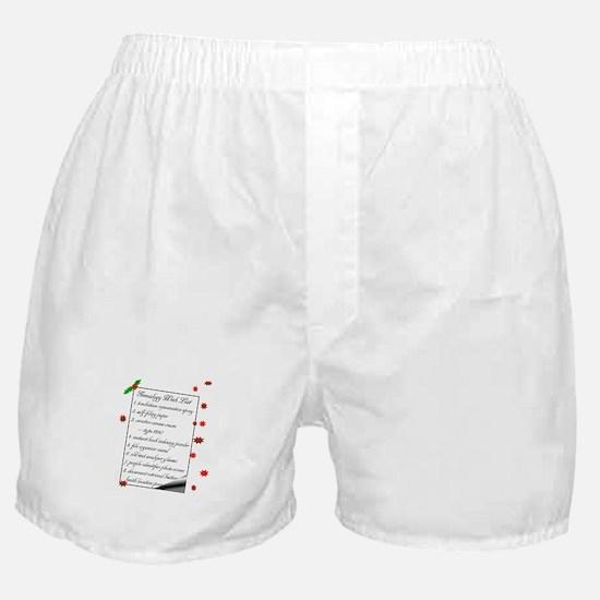 Genealogy Wish List Boxer Shorts