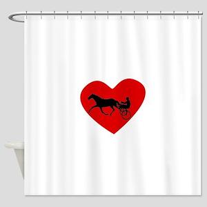 Harness Racing Heart Shower Curtain