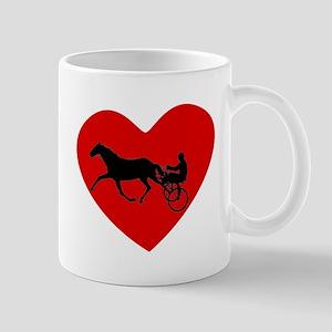 Harness Racing Heart Mugs