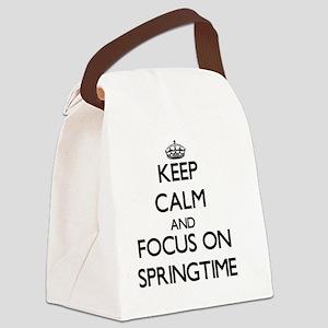 Keep Calm and focus on Springtime Canvas Lunch Bag