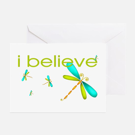 Dragonfly - I believe Greeting Cards (Pk of 10