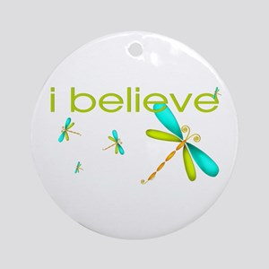 Dragonfly - I believe Ornament (Round)