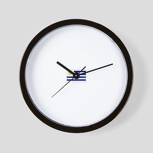 uruguay flag Wall Clock