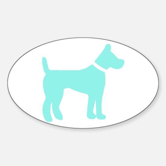 dog lt blue 1C Decal