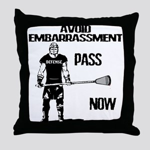 Lacrosse Defense Pass Throw Pillow