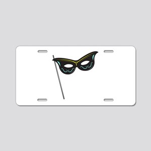 Hand Held Mask Aluminum License Plate