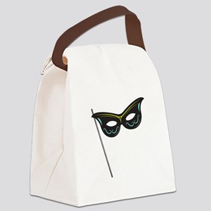 Hand Held Mask Canvas Lunch Bag