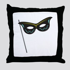 Hand Held Mask Throw Pillow