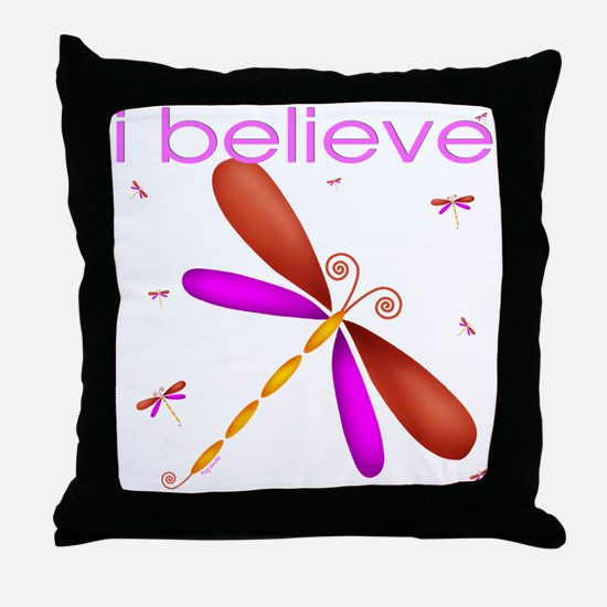 Beautiful dragonflies Throw Pillow