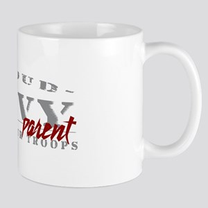 Proud Navy Parent (red) Mug