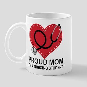 Proud Mom Nursing Student Mugs