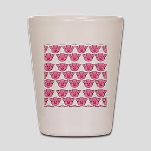 Cute Pink Pigs Shot Glass