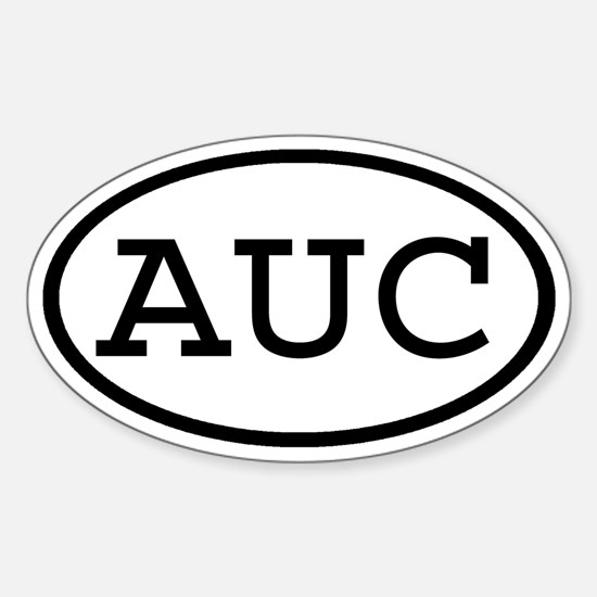 AUC Oval Oval Decal