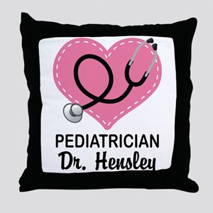 Pediatrician gift personalized Throw Pillow
