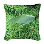 Tree Hopper on Pine Woven Throw Pillow