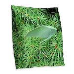 Tree Hopper on Pine Burlap Throw Pillow