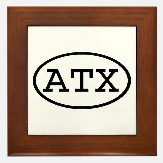 ATX Oval Framed Tile