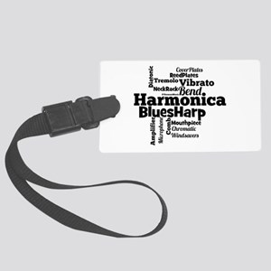 Harmonica Word Cloud Luggage Tag