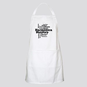 Harmonica Word Cloud Apron