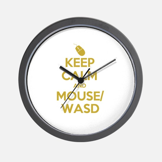 Keep Calm and Mouse WASD Wall Clock