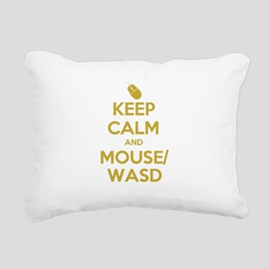 Keep Calm and Mouse WASD Rectangular Canvas Pillow
