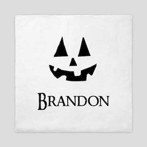 Brandon Halloween Pumpkin face Queen Duvet