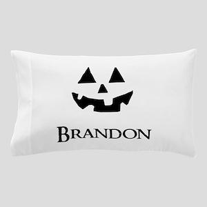 Brandon Halloween Pumpkin face Pillow Case