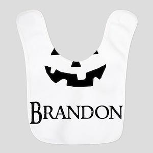 Brandon Halloween Pumpkin face Bib