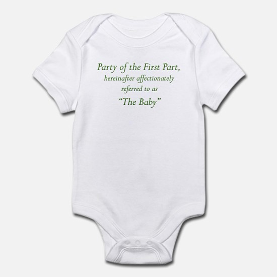 Party of the First Part Infant Bodysuit