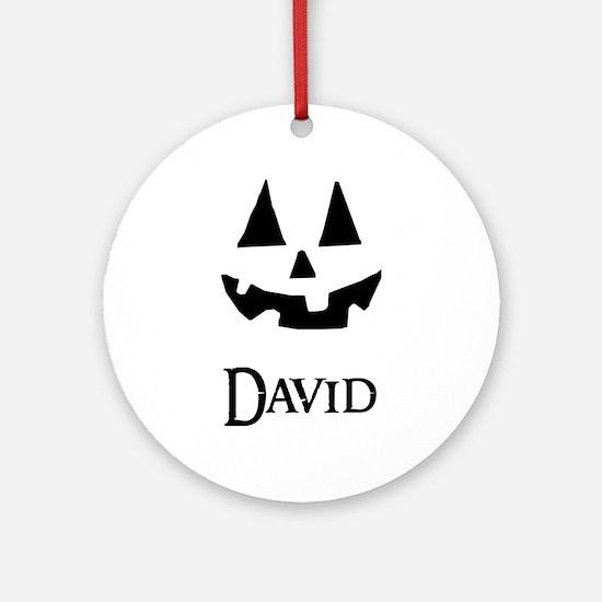 David Halloween Pumpkin face Ornament (Round)