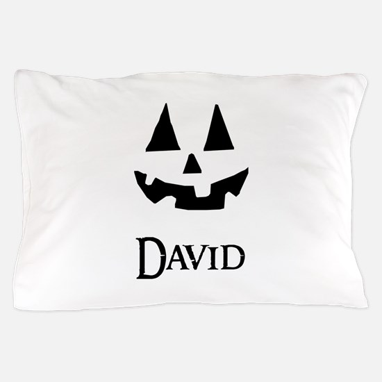 David Halloween Pumpkin face Pillow Case